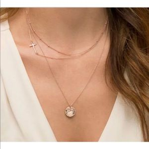 Jewelry - GOLD ROUND MEDALLION CROSS BEAD NECKLACE